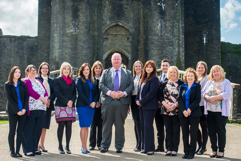 JCP Solicitors outside Caerphilly Castle