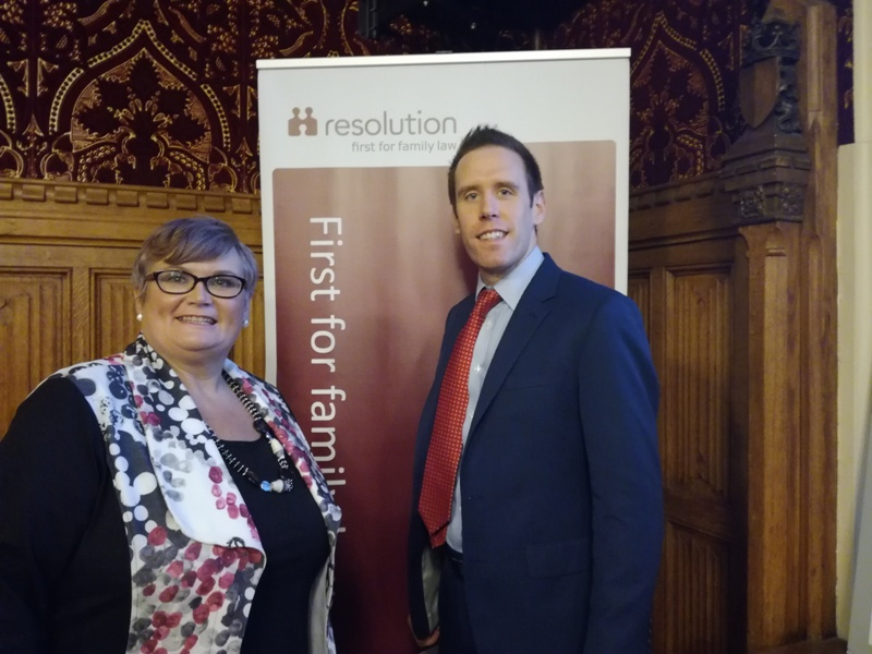 Matthew Wells with local MP Carolyn Harris.