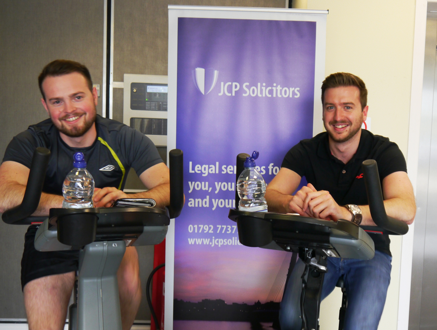 JCP Solicitors spinathon to help raise £800 for Macmillan Cancer Support x4