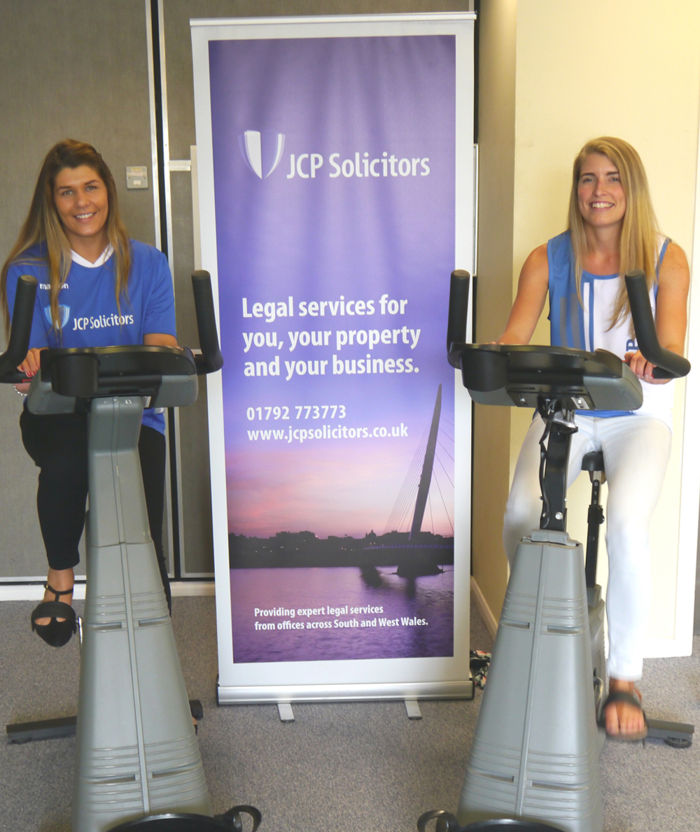 JCP Solicitors spinathon to help raise £800 for Macmillan Cancer Support x2