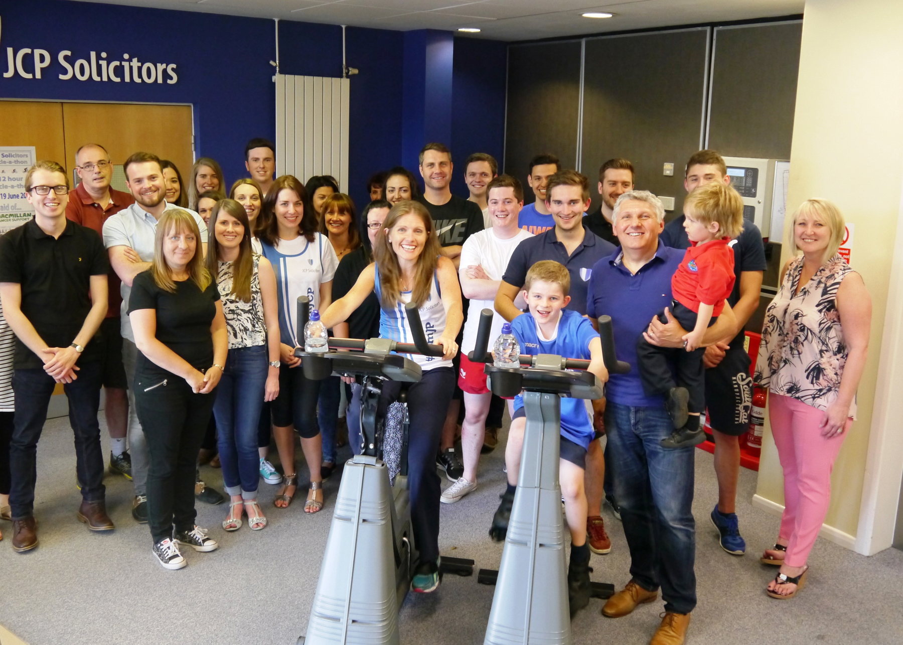 JCP Solicitors spinathon to help raise £800 for Macmillan Cancer Support x5