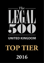 Legal 500 Top Tier Law Firm